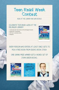 Teen Read Week Contest