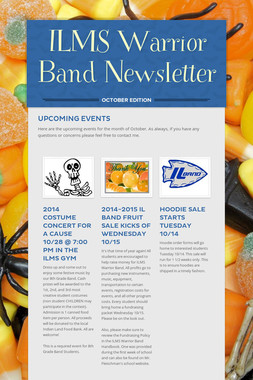 ILMS Warrior Band Newsletter