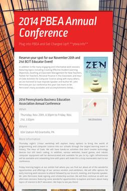 2014 PBEA Annual Conference