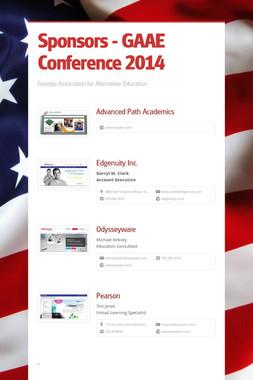 Sponsors - GAAE Conference 2014