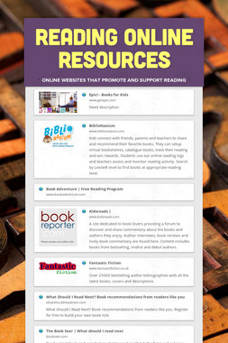 Reading Online Resources