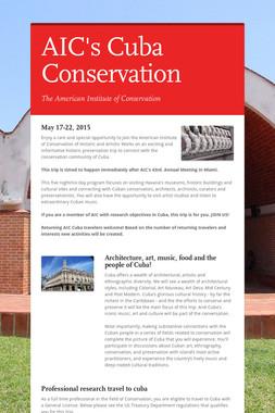 AIC's Cuba Conservation