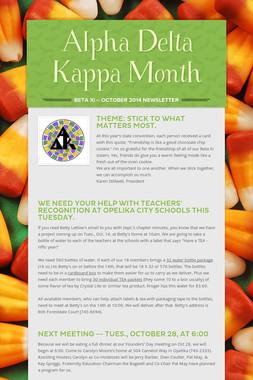 Alpha Delta Kappa Month