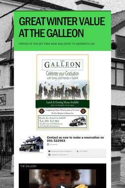 GREAT WINTER VALUE AT THE GALLEON