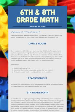 6th & 8th grade Math