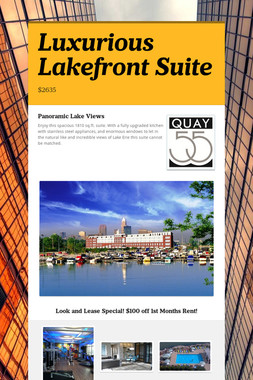 Luxurious Lakefront Suite