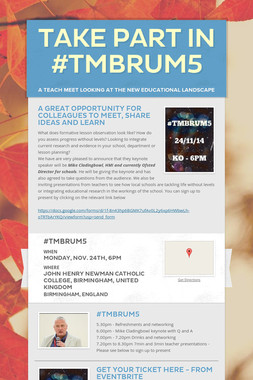 Take part in #TMBrum5