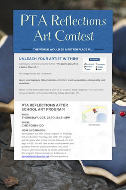 PTA Reflections Art Contest