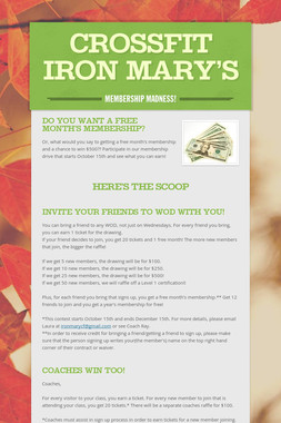 Crossfit Iron Mary's