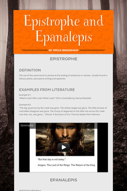 Epistrophe and Epanalepis
