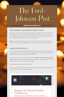 The Ford-Johnson Post