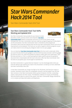 Star Wars Commander Hack 2014 Tool