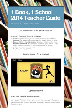 1 Book, 1 School 2014 Teacher Guide