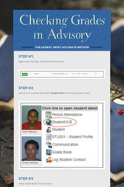 Checking Grades in Advisory