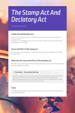 The Stamp Act And Declatory Act
