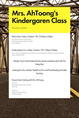 Mrs. AhToong's Kindergaren Class