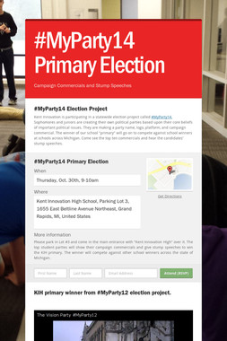 #MyParty14 Primary Election