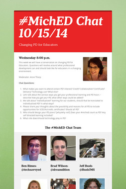 #MichED Chat 10/15/14