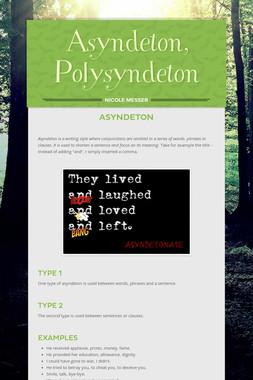 Asyndeton, Polysyndeton