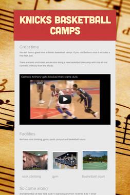 Knicks basketball camps