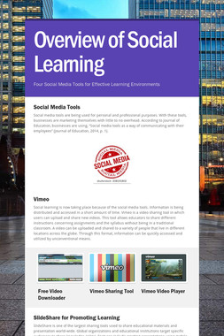 Overview of Social Learning