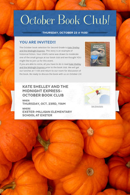 October Book Club!