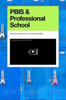 PBIS & Professional School