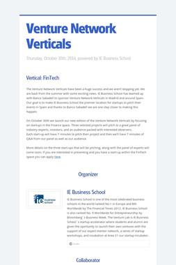 Venture Network Verticals