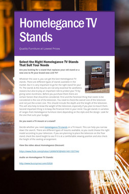 Homelegance TV Stands