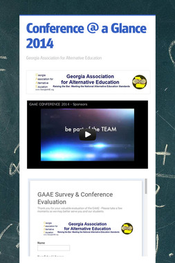 Conference @ a Glance 2014