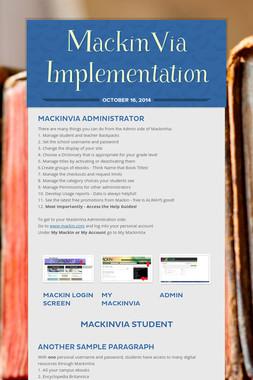 MackinVia Implementation