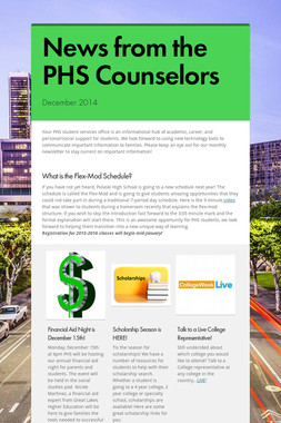 News from the PHS Counselors