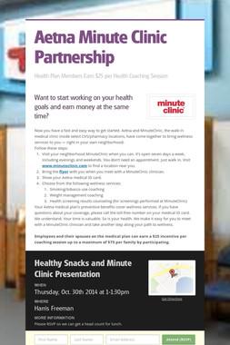 Aetna Minute Clinic  Partnership