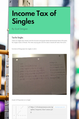Income Tax of Singles