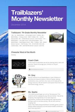 Trailblazers' Monthly Newsletter