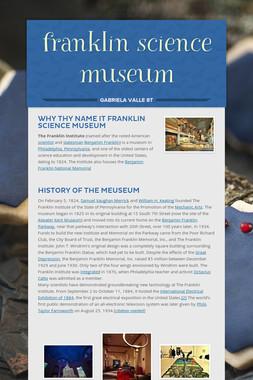 franklin science museum