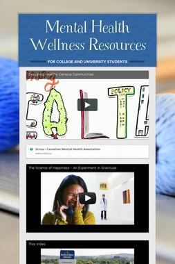 Mental Health Wellness Resources