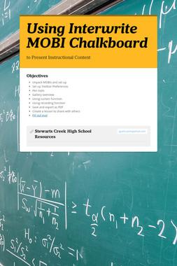 Using Interwrite MOBI Chalkboard