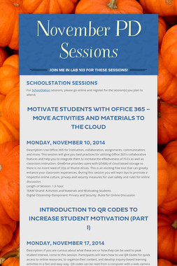 November PD Sessions