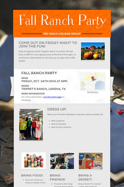 Fall Ranch Party