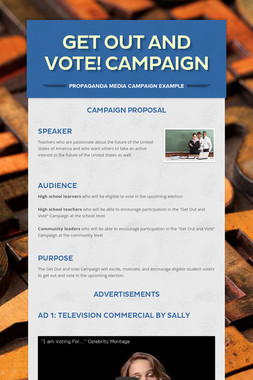 Get Out and Vote! Campaign