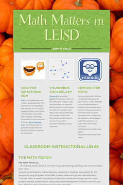 Math Matters in LEISD