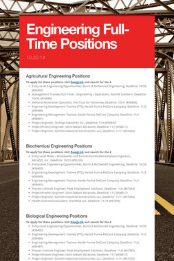 Engineering Full-Time Positions