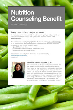 Nutrition Counseling Benefit