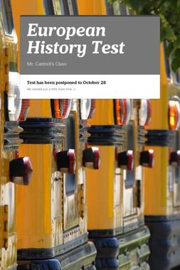 European History Test