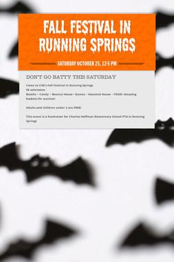Fall Festival in Running Springs