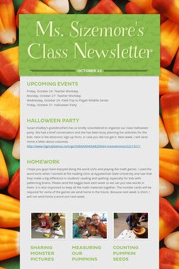 Ms. Sizemore's Class Newsletter