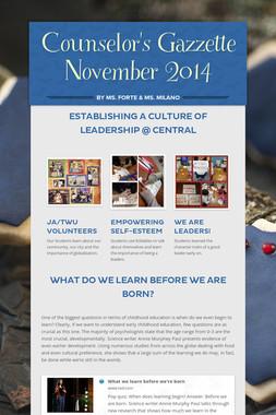 Counselor's Gazzette November 2014