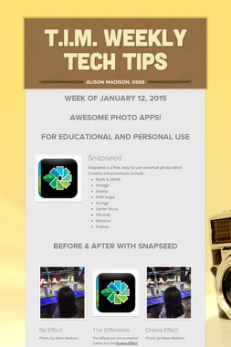 T.I.M. Weekly Tech Tips