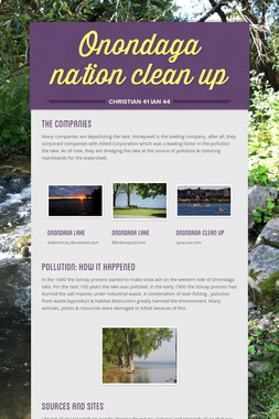 Onondaga nation clean up